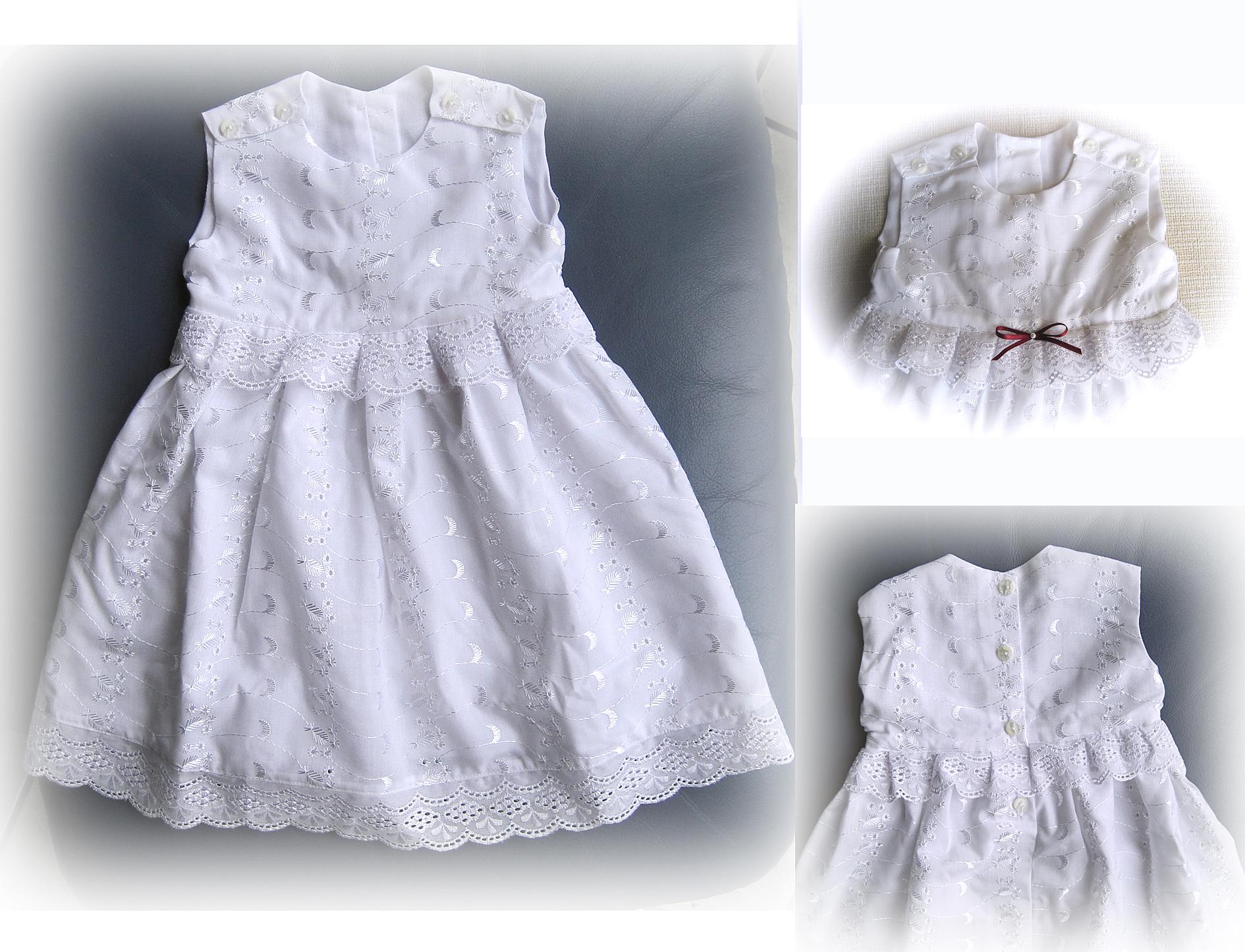 handgefertigte taufkleidchen ::